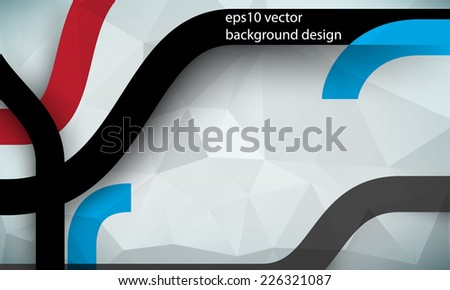 eps10 vector geometric triangular and bent thick lines business background - stock vector