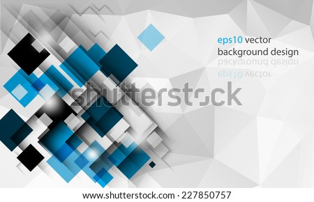 eps10 vector geometric triangular elements business background - stock vector