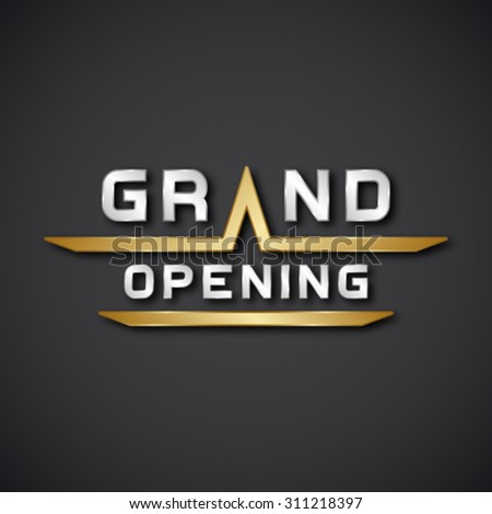 EPS10 vector grand opening text icon - stock vector
