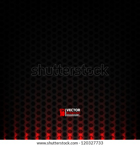 eps10 vector illustration abstract futuristic metallic background design - stock vector
