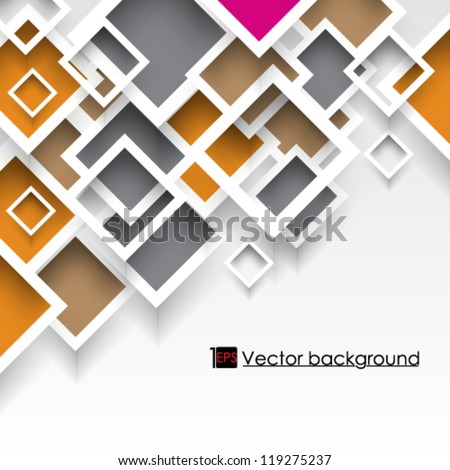 eps10 vector illustration abstract overlapping colorful square background - stock vector