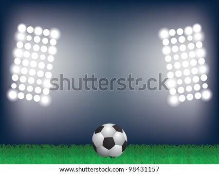 EPS10 vector illustration of football on the stadium - stock vector
