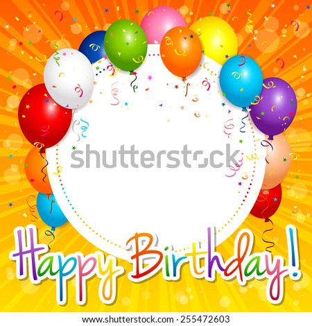 EPS 10 Vector illustration of happy birthday card. Used opacity and blending mode. Objects are layered. - stock vector