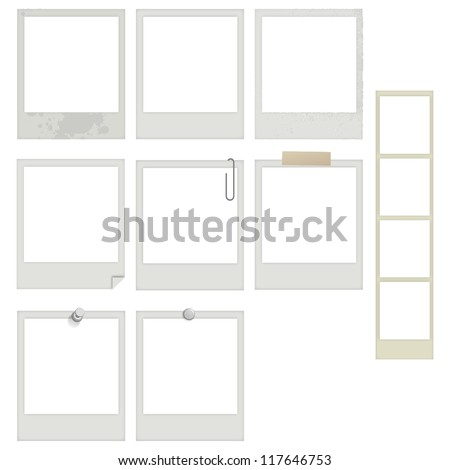 EPS10 Vector Instant Photo and Photobooth Frames - stock vector