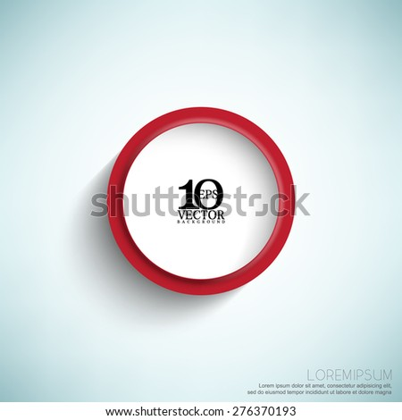 eps10 vector isolated embossed round frame with shadow business background - stock vector
