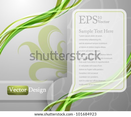Eps10 Vector Modern Abstract Concept Background Design - stock vector