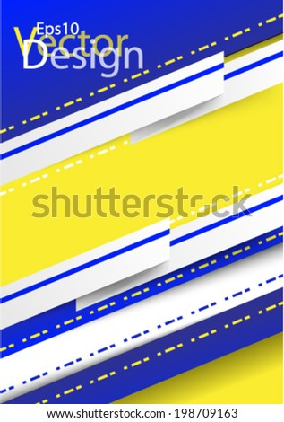 Eps10 Vector Modern Colorful Design for your Business Background - stock vector