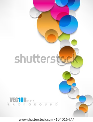 eps10 vector multicolor abstract circle design - stock vector