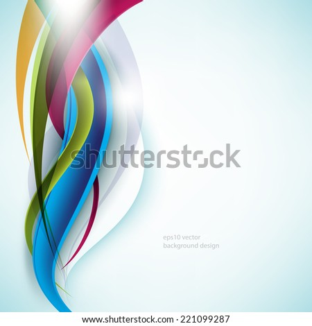 eps10 vector multicolor wave elements business background - stock vector