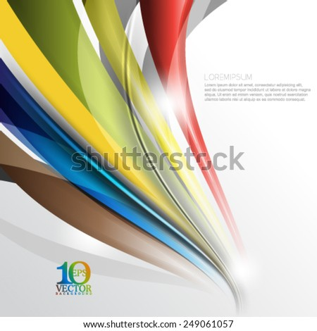 eps10 vector multicolored bent lines abstract background - stock vector