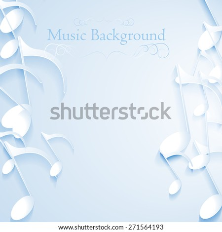eps10 vector music note background design. paper - stock vector
