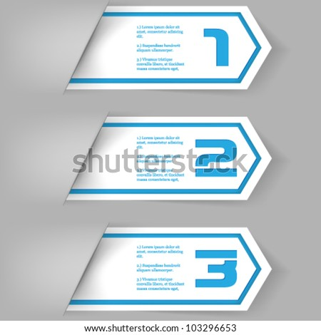 eps10 vector numbered banner template - stock vector
