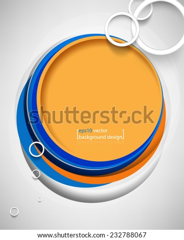 eps10 vector overlapping geometric frame circle business background - stock vector