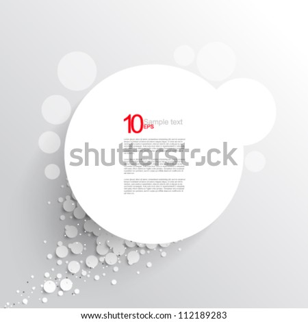 eps10 vector overlapping white round frame illustration - stock vector