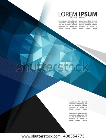 eps10 vector polygon elements corporate modern trendy cover template - stock vector