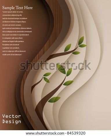 Eps10 Vector Retro Wood Concept Background Design - stock vector