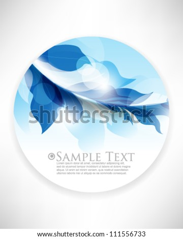 eps10 vector round icon foliage elements background - stock vector