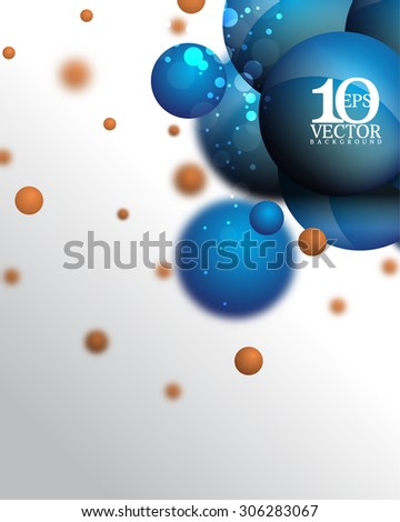 eps10 vector science molecular round sphere particle elements technology background - stock vector