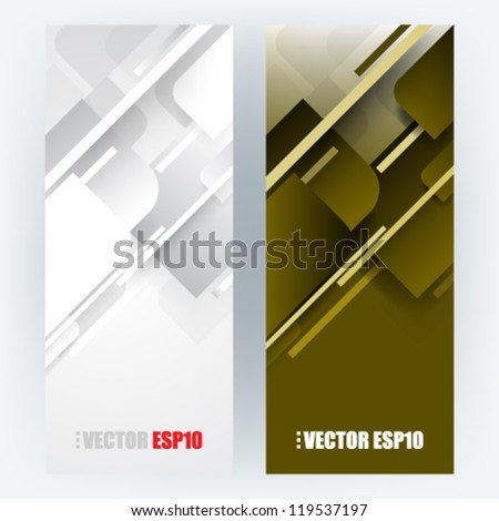eps10 vector set corporate background - stock vector
