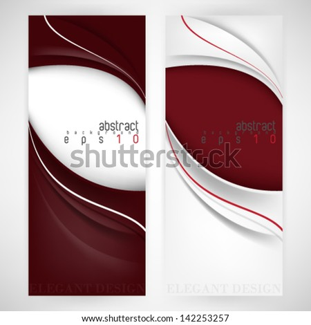 eps10 vector set of two elegant background - stock vector