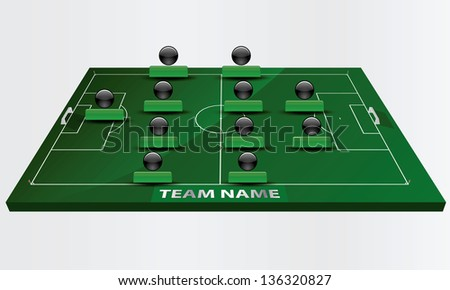 EPS Vector 10 - soccer field or football field - stock vector