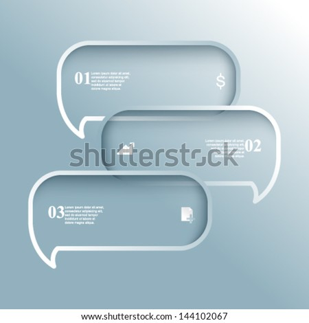 eps10 vector speech balloon infographics background - stock vector