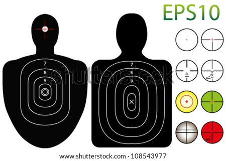 EPS10 Vector Targets with a Selection of Recticles - stock vector