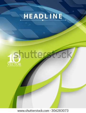 eps10 vector technology corporate business modern blue and green abstract background - stock vector