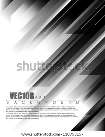 eps10 vector transparent stripes abstract deign - stock vector