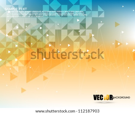 eps10 vector transparent triangles design - stock vector