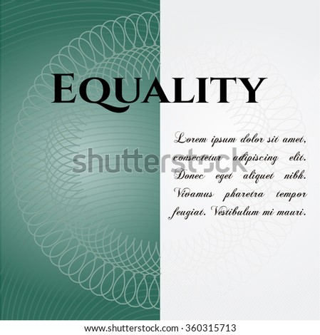 Equality card or poster - stock vector