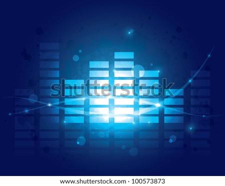 Equalizer background - stock vector