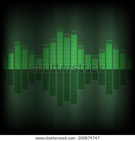 Equalizer background vector  - stock vector