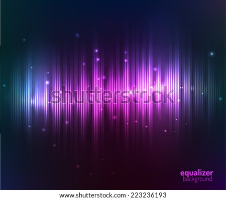 Equalizer background. Vector eps10. - stock vector
