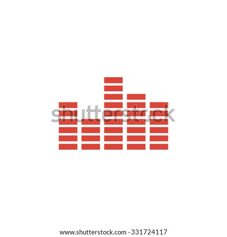 Equalizer icon. Flat design style modern vector illustration. - stock vector