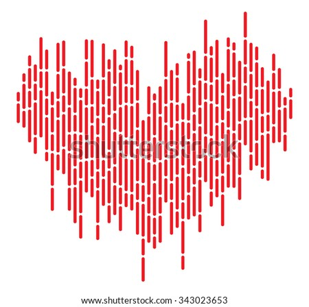 Equalizer pulse heart beats - stock vector