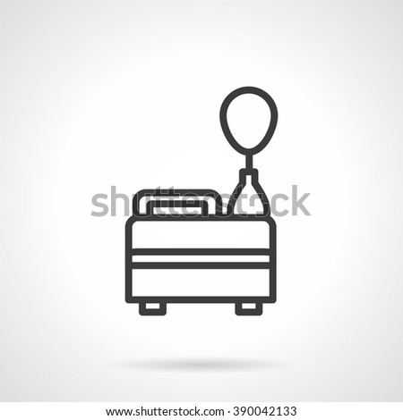Equipment for party and birthday organization. Helium filled balloon. Event agency. Black line style single vector icon. Element for web design, business, mobile app.  - stock vector