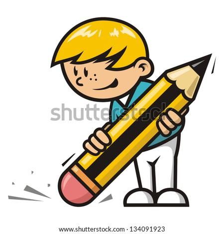 Erase boy - stock vector