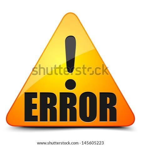Error - stock vector