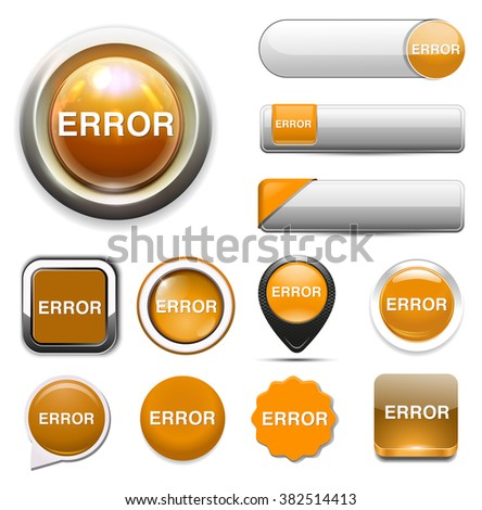 error icon - stock vector