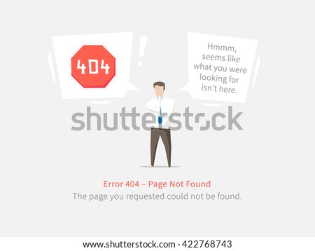 Error 404 page layout vector design. Website 404 page creative concept. 404 web page error creative design. Modern 404 page not found concept. The page you requested could not be found. - stock vector
