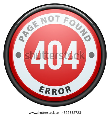 Error 404 page not found - stock vector