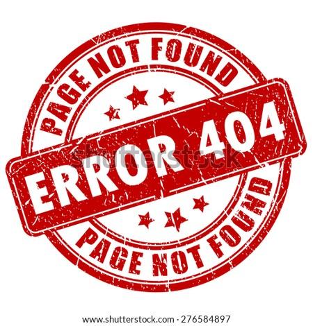 Error 404 stamp - stock vector