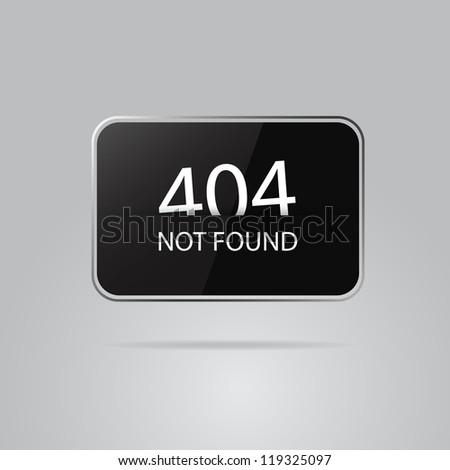 Error 404 web button - stock vector