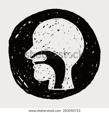esophagus doodle - stock vector
