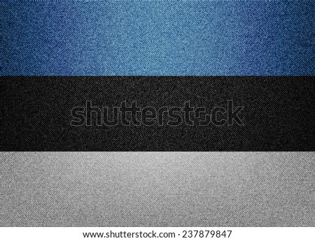 Estonia Denim flag - stock vector