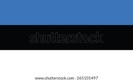 estonia Flag for Independence Day and infographic Vector illustration. - stock vector