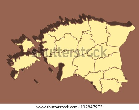 Estonia Vector Map - stock vector