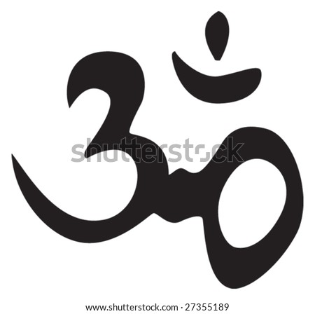 Eternal hindu symbol OM. Sign, symbol, for tattoo or artwork, vector. - stock vector