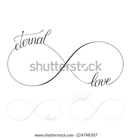 Eternal love icon valentines day vector symbol - stock vector
